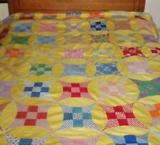 """early 1940s era GLORIFIED  9 PATCH Quilt Top 82""""x76"""""""