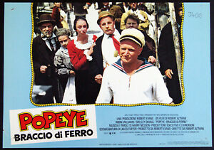 lotto 4 fotobuste film POPEYE BRACCIO DI FERRO Robin Williams Robert Altman 1981