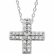 Cruz Diamante 45.7cm Collar Plata de ley 925