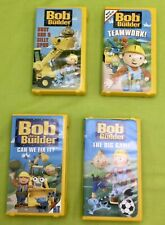 BOB the BUILDER VHS Tapes 2001 & 2004 Kids Fun Lot Of 4 Pre-owned VG Condition