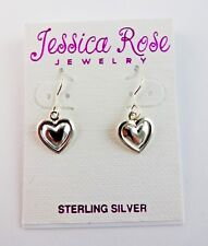 Heart Earrings Dangle Silver Fish Hook Fasteners Small Hearts Valentine's Day