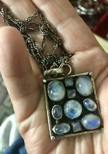 Artisan Moonstone Sterling Silver Pendant Necklace
