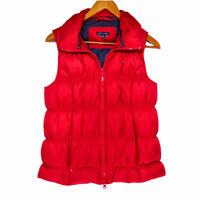 Tommy Hilfiger Women's Red Full Zip Feather Down Puffer Vest - Size Small