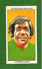 GORDON BANKS ENGLAND 1966 World Cup GOALKEEPER Leicester Stoke City Chesterfield