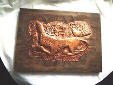 Bild,Kupfer Relief auf Holzplatte ,Handarbeit 42 x 30 cm