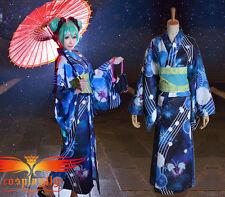 Vocaloid Hatsune Miku Project DIVA Bathrobe Kimono Miku Cosplay Costume