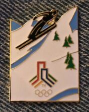 Ski Jump Olympic Pin Badge~SLC 2002~Bid Logo~LE~Salt Lake City~Winter Games