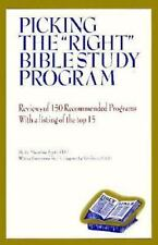 "Picking the ""Right"" Bible Study Program: Reviews of 150 recommended programs wi"