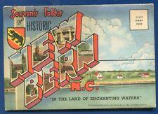New Bern North Carolina nc Sudan Temple Radio Station WHIT postcard folder