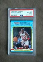 1988 Fleer Basketball Sticker Michael Jordan #7 PSA Graded 8 (OC) NM~MT