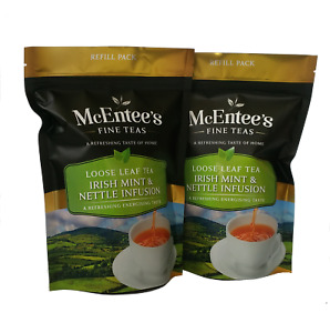 McEntee's Irish MINT & NETTLE INFUSION - 2 x 75g Bag - BLENDED IN IRELAND