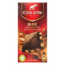 Côte d'Or Bloc Pure Hazelnut Chocolate Bar Noir Cote Dor 180G