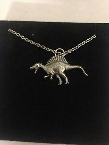 Spinosaurus WE-SPINPPIN English Pewter on a Silver Platinum Plated Necklace 18""