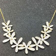 Collar Joya Joyería Bisutería Flores Plata Oro Mujer Moda Elegante Brillante