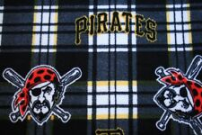 2-MLB PITTSBURGH PIRATES PRINTED FLEECE STANDARD PILLOW CASE/BLACK FLEECE BACK