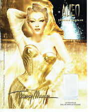 Publicité Advertising 127  2012   Thierry Mugler  eau de parfum absolue Alien
