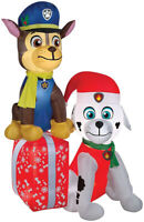 CHRISTMAS SANTA PAW PATROL DOGS PRESENTS AIRBLOWN INFLATABLE 7 FEET GEMMY
