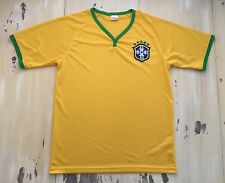BRAZIL - CBF Yellow & Green Football Soccer Jersey, Fits Mens MEDIUM, Neymar