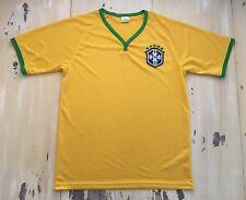 BRAZIL - CBF Yellow & Green Football Soccer Jersey, Fits Mens MEDIUM, Neymar