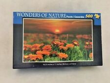 Wonders Of Nature 500 Piece Jigsaw Puzzle Red Daisy Sunset Cardinal Industries