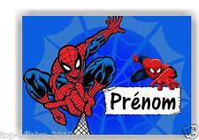 Plaque de porte en ( sur ) bois  Spiderman  avec prénom   N° 155