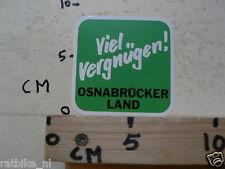 STICKER,DECAL VIEL VERGNUGENT  OSNABRUCKER LAND