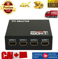 1in 4 out Signal Amplifier 3D HDMI Splitter HD 1080p Splitter Repeater Amplifier