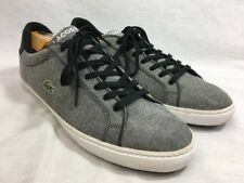 Lacoste GRAD VULC CE US Canvas Sneakers Shoes Mens 13 Gray Black Lace Up