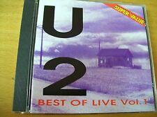 U2 BEST OF LIVE VOL 1 CD MINT-  BOB DYLAN BB KING