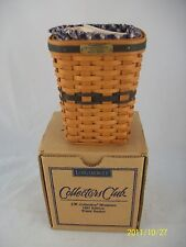 Longaberger J W Collection Miniature Waste Basket Combo Nib
