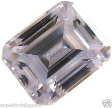 10 x 12 mm 5.00  ct EMERALD Cut Sim Diamond, Lab Diamond WITH LIFETIME WARRANTY