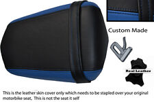 BLACK AND BLUE  CUSTOM 03-05 FITS YAMAHA 600 YZF R6 REAR LEATHER SEAT COVER