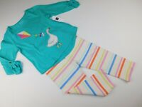 NWT Gap Toddler Girl's 2Pc Outfit T-Shirt/Striped Leggings 4 Yrs MSRP $35 New