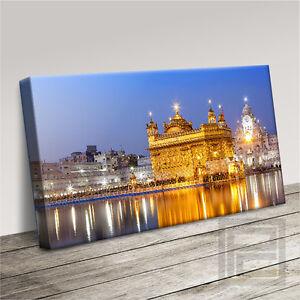 INDIA GOLDEN TEMPLE SPIRITUAL MODERN ICONIC CANVAS ART PRINT PICTURE ArtWilliams