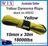 Winch Rope Synthetic Dyneema 10mm x 30m Car Tow Recovery Offroad 4WD Cable-45932