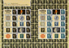 Ls94 Penny Black / 2d Blue 175th Anniversary 2015 Generic Smilers Full Sheet