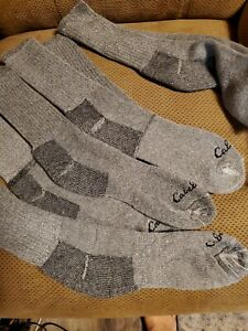 Cabela's Medium-Weight Wool Boot Socks for Men 4-Pair Pack 10-13 DAMAGED