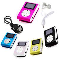 Mini USB Giocatore MP3 Sostegno Schermo Cristalli Liquidi 32GB Micro SD TF Set