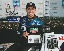 2017 Graham Rahal signed Tag Heuer Detroit Indy Car 8x10 Press Photo