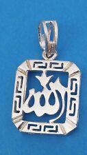 Kettenanhänger 925 Silber ALLAH Schriftzeichen ISLAM Moslem Symbol ECHT NEU