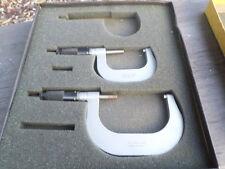 "Vintage Outside C Type 2 Piece Apprentice Micrometer Tool Set 1""-2"" & 2""-3"""