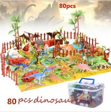 "80 TOY DINOSAUR FIGURES KIDS PLAYSET DINOSAURS ASSORTMENT DINO TOYS 2"" SIZE"