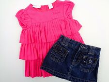 Lot of 2 First Impression T-shirt & Old Navy Skirt size 6 - 9 - 12 M Baby Girls