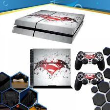 VINILO PLAYSTATION 4 PS4 BATMAN VS SUPERMAN PEGATINA DE LA PIEL SKIN + MANDOS