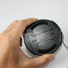 82mm Center Pinch Snap on Front Cap Cover For Sony Canon Nikon Lens Filter