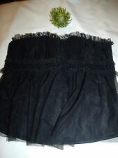 Naturally Close Black Padded Boned Hook & Eye Sequins & Netting Party Top 16