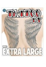 Fake Tattoo Extra large  covers back Angel Wings