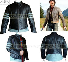 X-Men Wolverine Stile Uomo Nero/Grigio Moda Alto Qualityanalene Giacca di Pelle