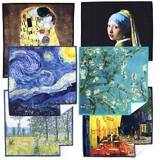 LARGE [6 Pack] World Best Classic Art Collection-Lens Cleaning Cloth(Microfiber)