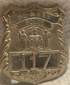 Early Delaware Lackawanna & Western Railroad New York Police Badge